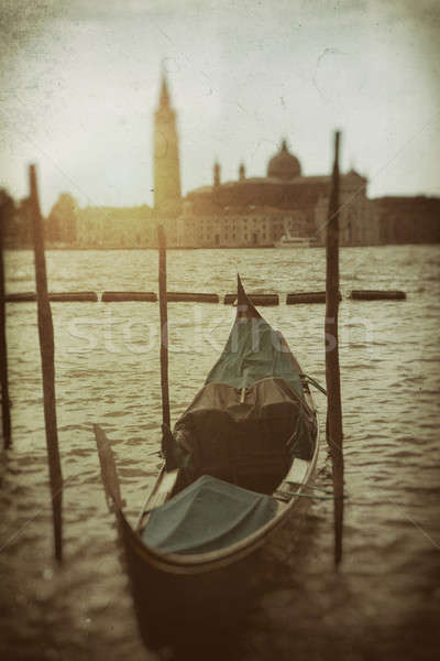 Gondola on Grand Canal in Venice Stock photo © artjazz