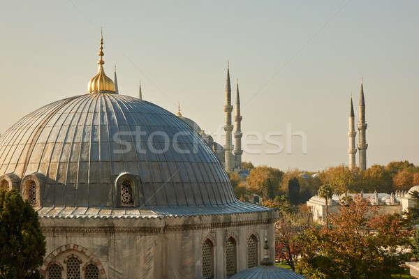 Kupola torony mecset Törökország Isztambul kilátás Stock fotó © artjazz