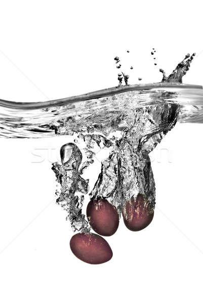 śliwka wody pęcherzyki odizolowany biały charakter Zdjęcia stock © artjazz