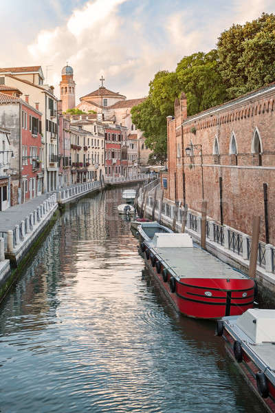 Grand Canal scenery in antique Venice Stock photo © artjazz