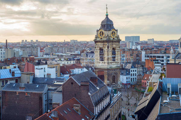 Skyline of the city Brussels Stock photo © artjazz