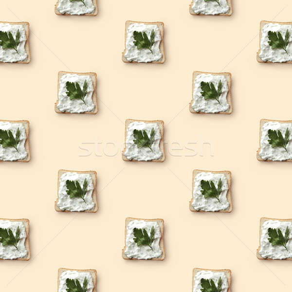 sandwiches with butter and parsley Stock photo © artjazz