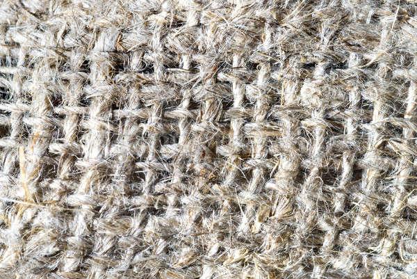 macro of burlap texture Stock photo © artjazz