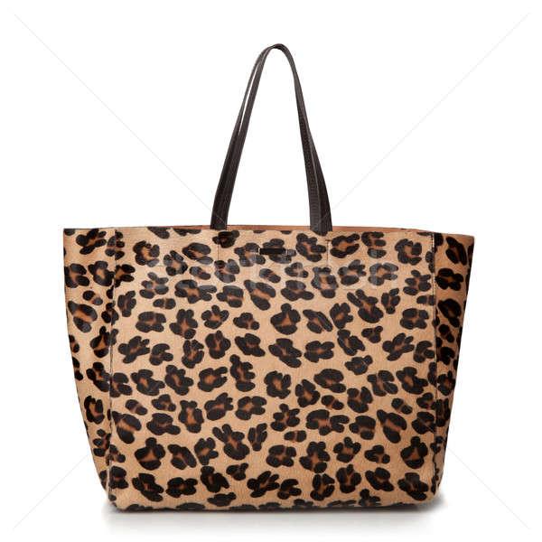 Foto d'archivio: Lusso · Leopard · femminile · bag · isolato · bianco