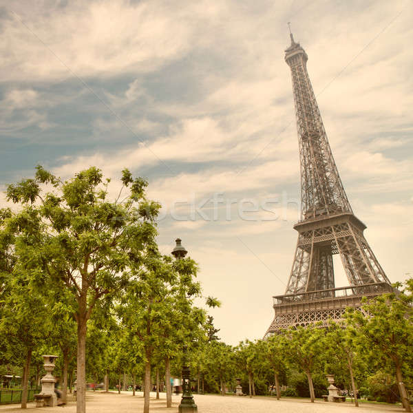 Eiffel tower in Paris, France Stock photo © artjazz