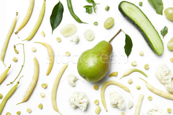 Ingredients for the organic green smoothie Stock photo © artjazz