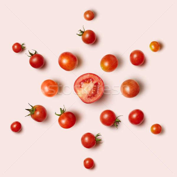 pattern cherry tomato Stock photo © artjazz