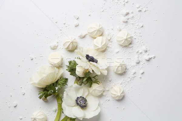 flower with meringue Stock photo © artjazz