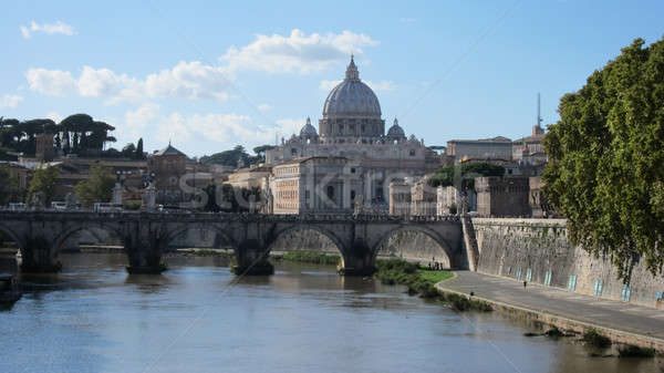 Bazylika watykan miasta piękna wibrujący dzień Zdjęcia stock © artjazz