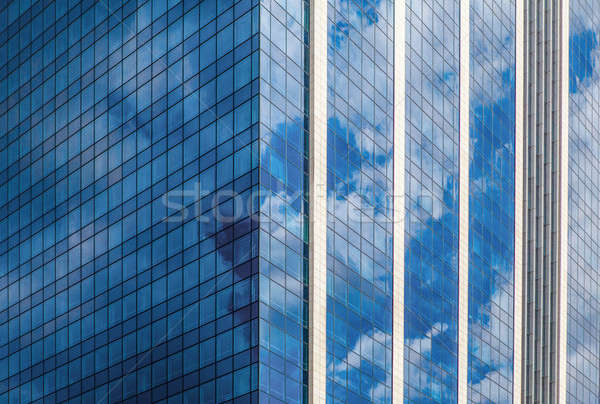 Modern smoked glass office building Stock photo © artjazz