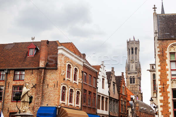 Rozenhoedkaai, Historic Centre of Bruges Stock photo © artjazz