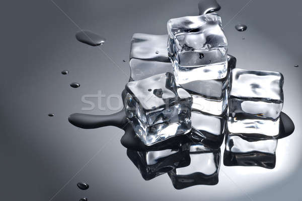 ice cube with water drops Stock photo © artjazz