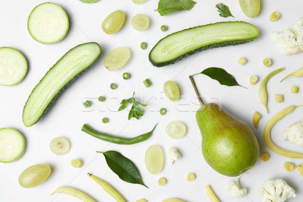 útil verde hortalizas blanco alimentos saludables salud Foto stock © artjazz