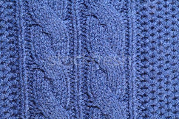 Szokatlan absztrakt kötött textúra kék férfi Stock fotó © artjazz