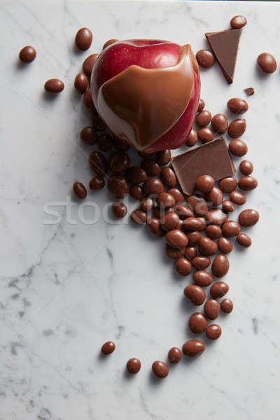candy apple and chocolate balls Stock photo © artjazz