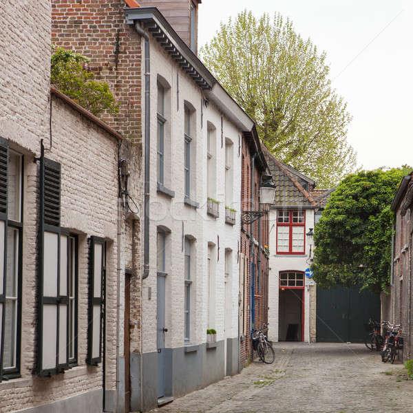 Starych ulicy miasta drogowego miasta domu Zdjęcia stock © artjazz