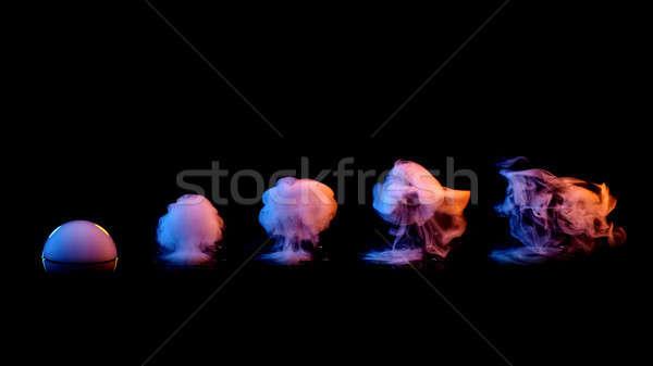 set of smokes on black background Stock photo © artjazz