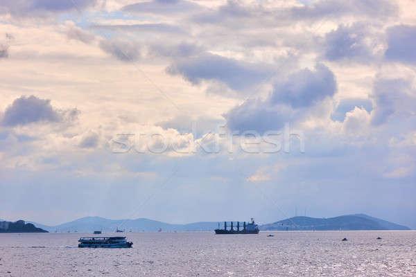 ships passing through Istanbul sea. Stock photo © artjazz