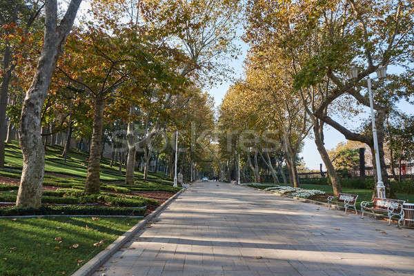 Parco autunno giorno Istanbul Turchia Foto d'archivio © artjazz