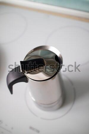 Moderne geiser koffiezetapparaat metaal licht Stockfoto © artjazz