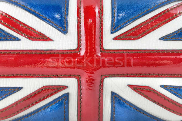 luxury leather british flag Stock photo © artjazz