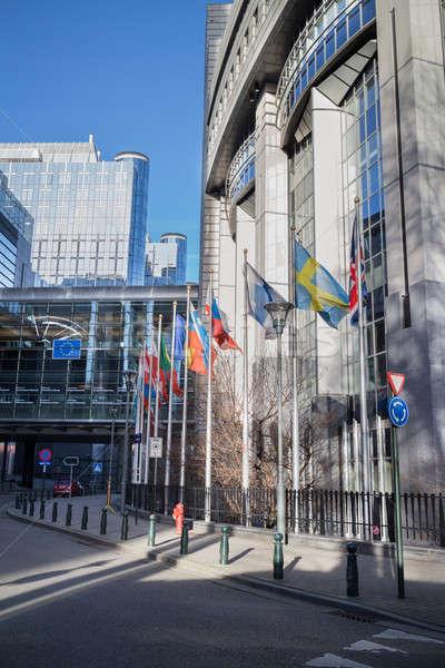 Europese parlement Brussel België business boom Stockfoto © artjazz