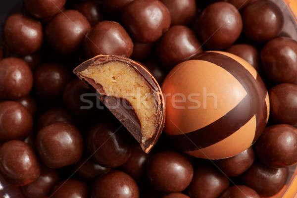 broken chocolate candies Stock photo © artjazz