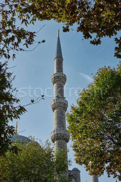 Kék mecset Isztambul Törökország részlet történelmi Stock fotó © artjazz