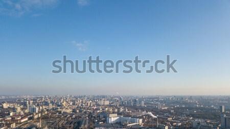 Kilátás város kerület gyönyörű kék ég fotó Stock fotó © artjazz