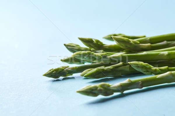 Egészséges organikus zöld spárga kész szakács Stock fotó © artjazz