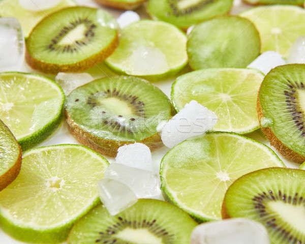 частей киви извести продовольствие Сток-фото © artjazz