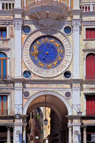 Zodiac clock at San Marco square in Venice Stock photo © artjazz