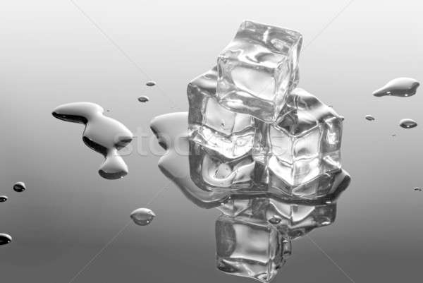 ice cubes with water drops Stock photo © artjazz