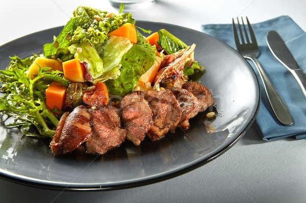 Heerlijk gegrild vlees eend pompoen vers Stockfoto © artjazz