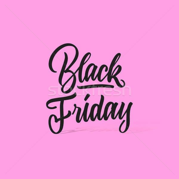 Ventes black friday vente texte rose Photo stock © artjazz