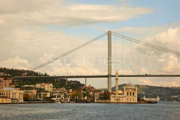 view of the Bosphorus Bridge and the Mosque Stock photo © artjazz