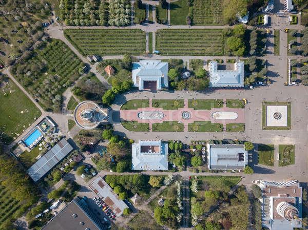 Luchtfoto tentoonstelling centrum park stad foto Stockfoto © artjazz