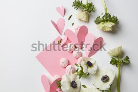Сток-фото: пусто · копия · пространства · настоящее · розовый · белый