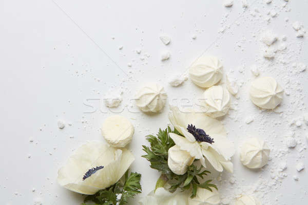 Stock photo: Postcard with white flower