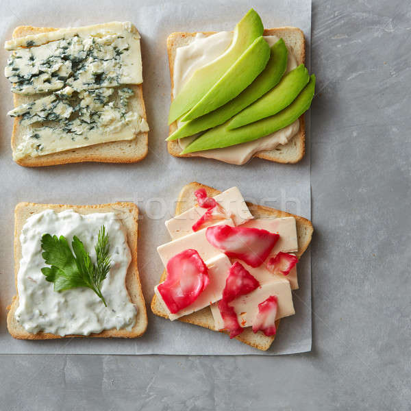 Stock photo: Tasty toasts with cheese