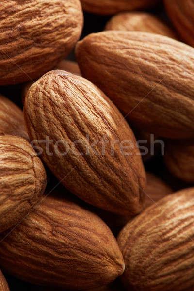 almonds close up as background, macro shot Stock photo © artjazz
