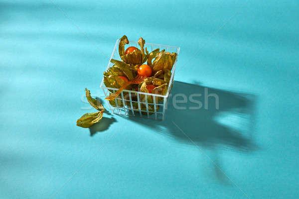 Maturo basket blu fresche succosa Foto d'archivio © artjazz
