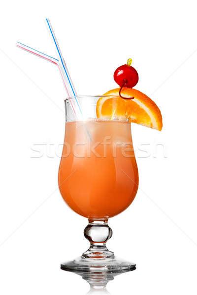 orange cocktail isolated on white Stock photo © artjazz