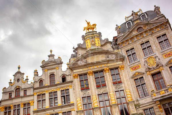 Plaats mooie elegante mijlpaal Brussel centraal Stockfoto © artjazz