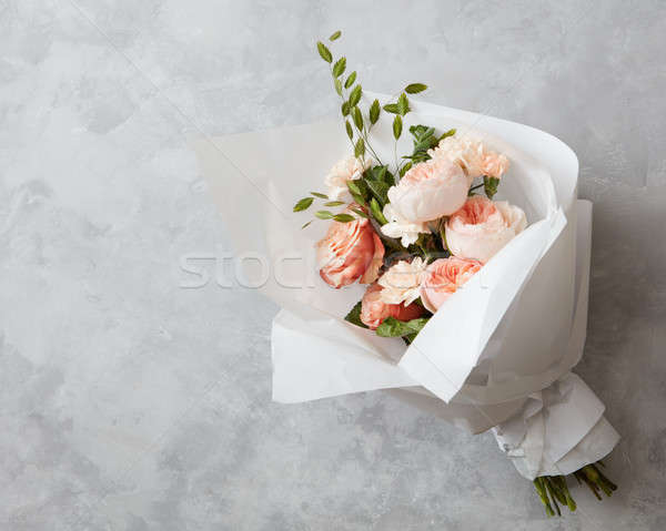 Beautiful pink roses Stock photo © artjazz