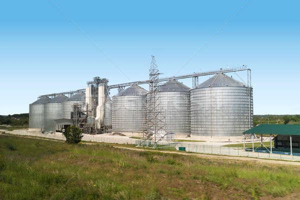 Green factory and blue sky Stock photo © artjazz