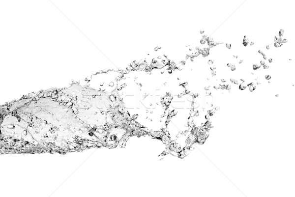 Kabarcıklar yalıtılmış sıçrama beyaz Stok fotoğraf © artjazz