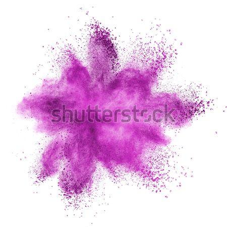 Rosa polvo explosión aislado blanco nubes Foto stock © artjazz