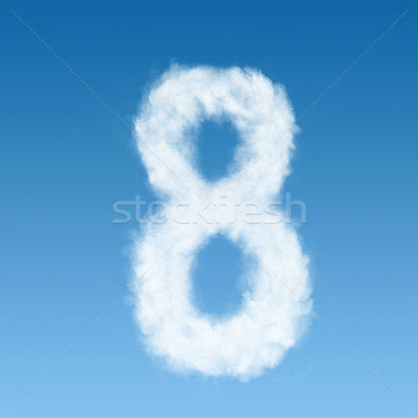 clouds in shape of figure eight Stock photo © artjazz