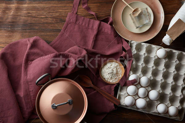 Ingredients for pie Stock photo © artjazz